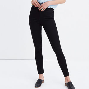 "Madewell 10"" High Rise Black Jeans 28"